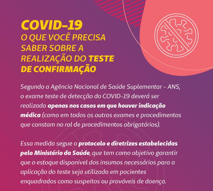 COVID-19: orientações sobre o teste de detecção