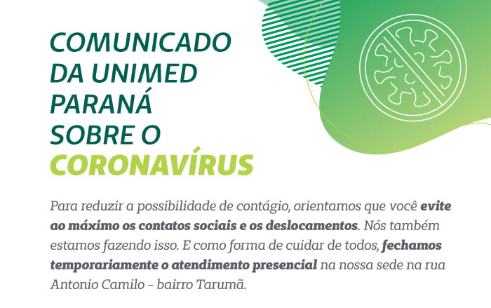Comunicado Coronavirus - Unimed Paraná